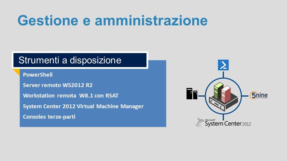 Gestione e amministrazione PowerShell Server remoto WS2012 R2 Workstation remota W8.1 con RSAT System Center 2012 Virtual Machine Manager Consoles ter