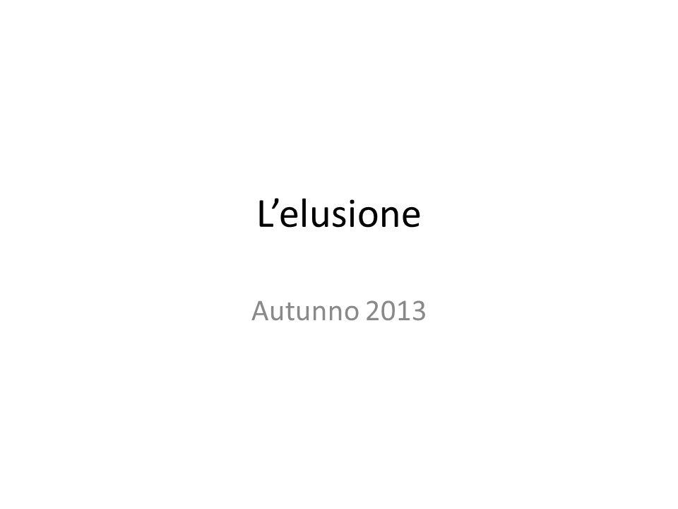 L'elusione Autunno 2013