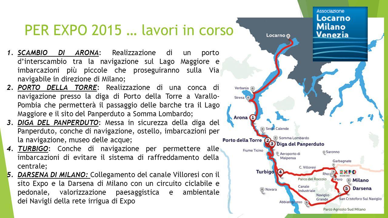 PER EXPO 2015 … lavori in corso 1.SCAMBIO DI ARONA: Realizzazione di un porto d'interscambio tra la navigazione sul Lago Maggiore e imbarcazioni più p