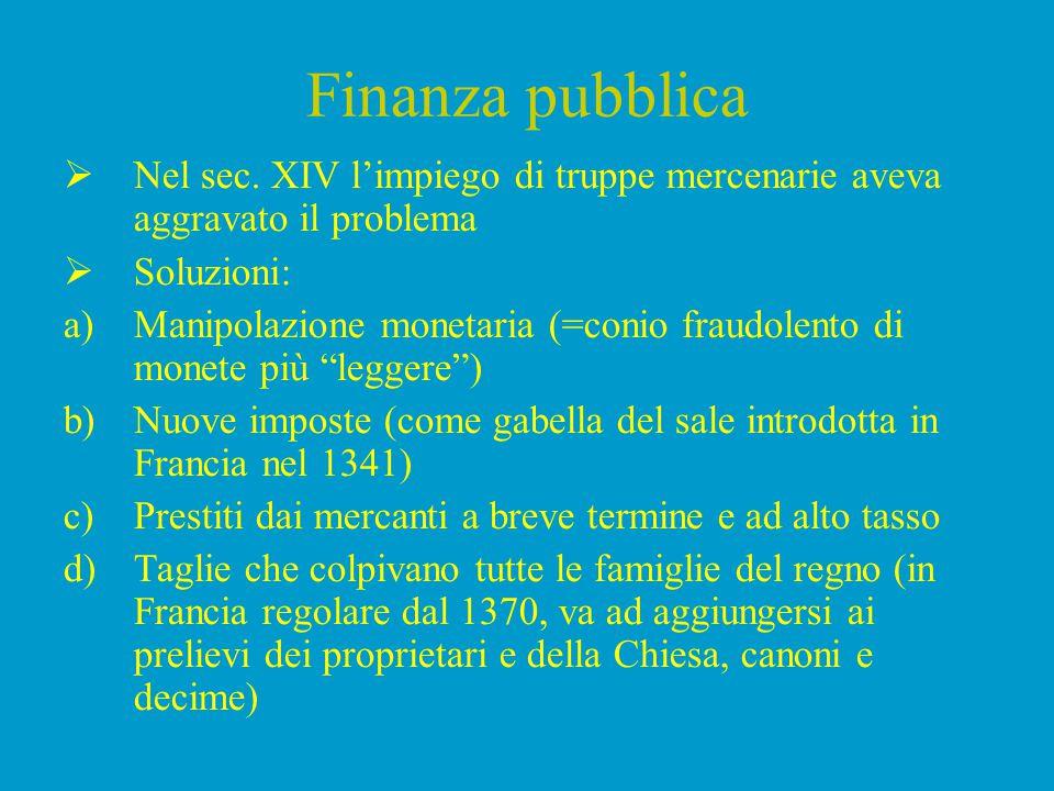 Finanza pubblica – il caso italiano  Nel sec.