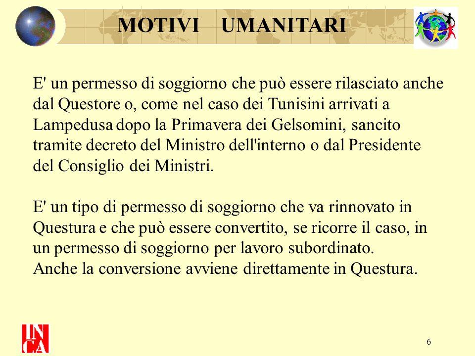 27 CARTA DI SOGGIORNO La Carta di Soggiorno non viene rilasciata, o può essere Revocata, se il richiedente ha procedimenti giudiziali in corso previsti dall'art.