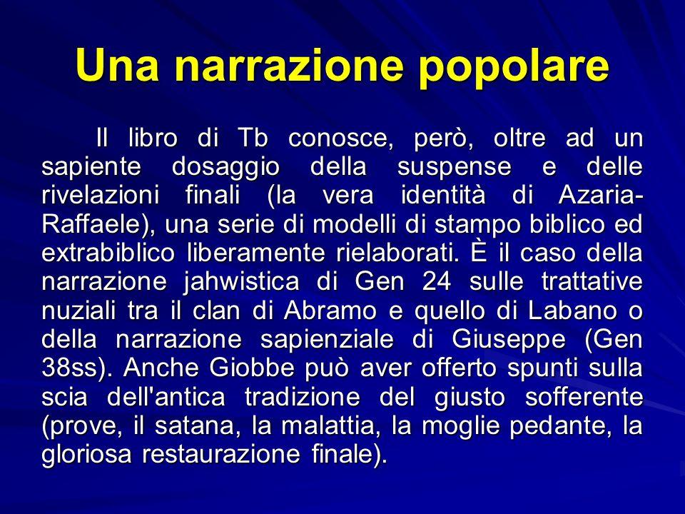 Una narrazione popolare In Tb l'angelo, però, è 'declassato' al servizio di una famiglia e delle sue vicende quotidiane: Raffaele ha ormai i lineament