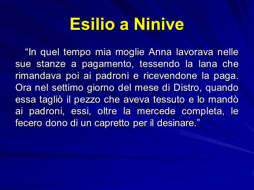 Esilio a Ninive Il figlio, Tobia, mandato dal padre a trovare qualche povero da invitare, trova un morto: il padre, avvisato esce a recuperare il mort
