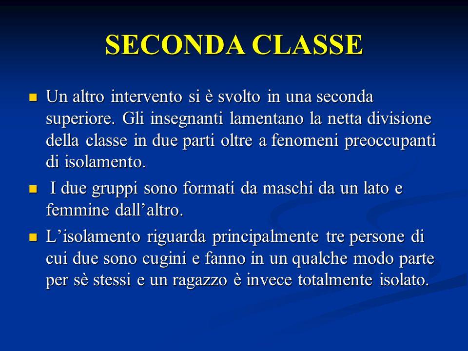 SECONDA CLASSE Un altro intervento si è svolto in una seconda superiore.