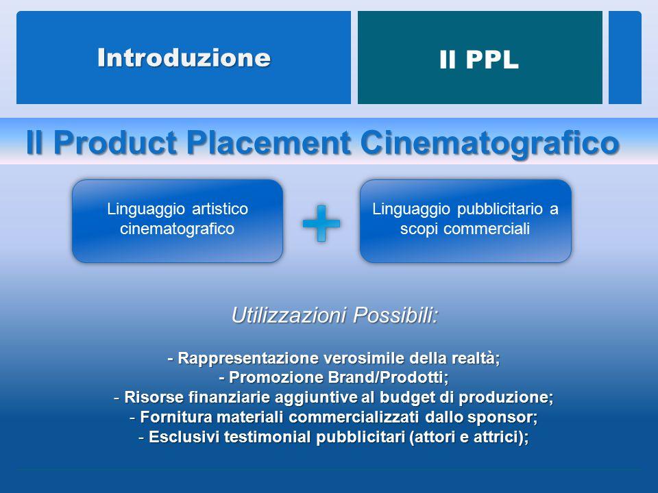 Il Product Placement nel XXI secolo è da considerare ormai come fenomeno di naturale integrazione all'interno delle opere cinematografiche, trascendendo dal mero contesto finanziario, per radicarsi nei fondamentali mezzi di verosimiglianza.
