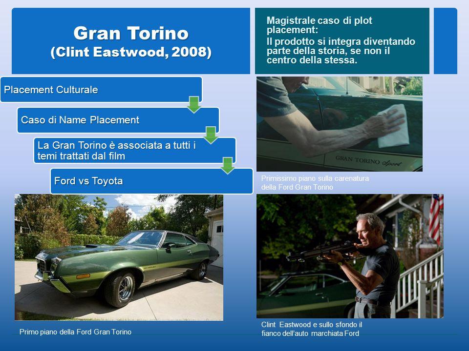 Gran Torino (Clint Eastwood, 2008) Magistrale caso di plot placement: Il prodotto si integra diventando parte della storia, se non il centro della stessa.