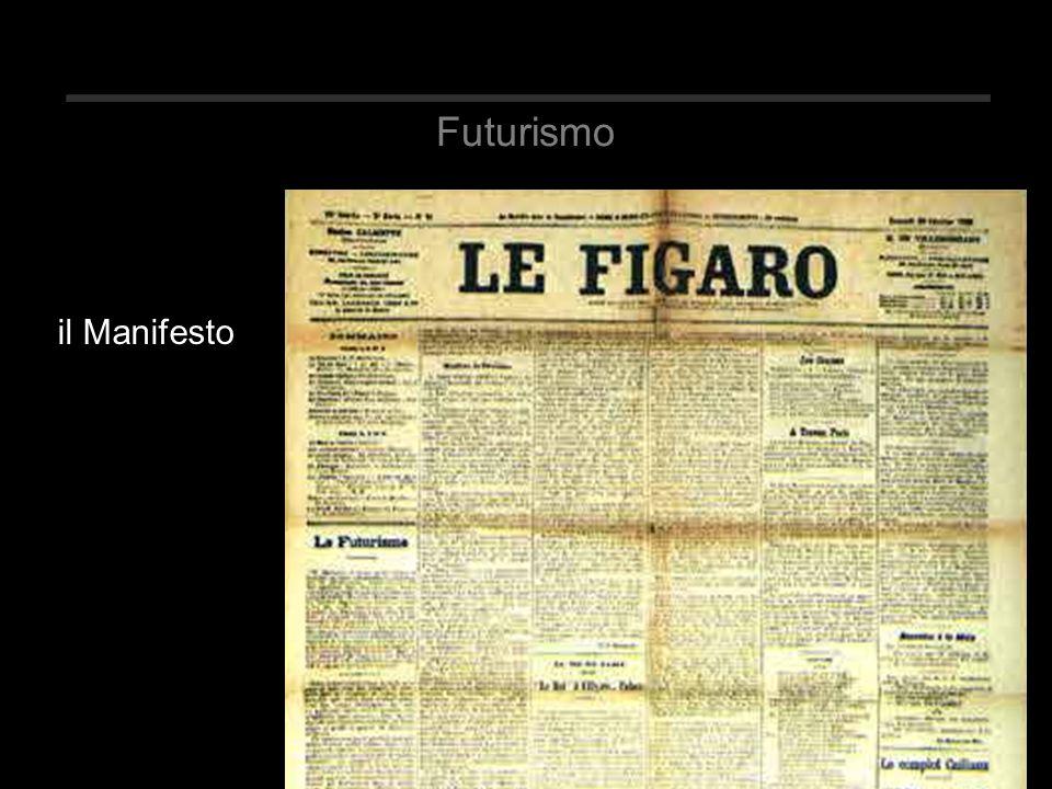 Futurismo il Manifesto