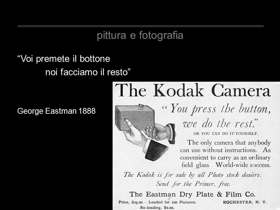 pittura e fotografia Voi premete il bottone noi facciamo il resto George Eastman 1888