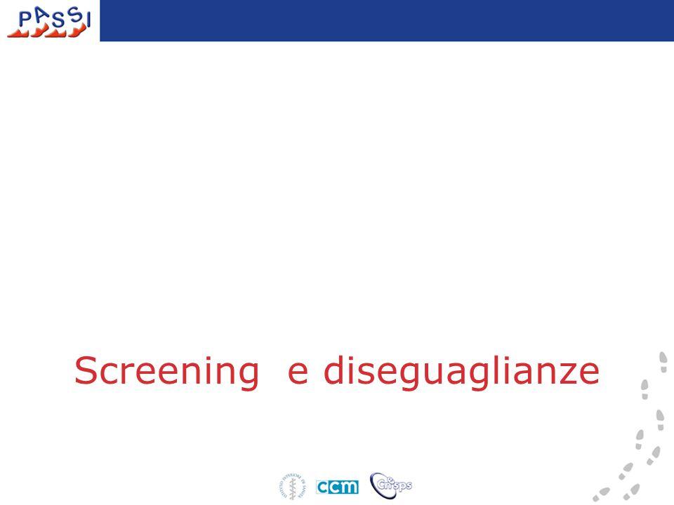 Screening e diseguaglianze