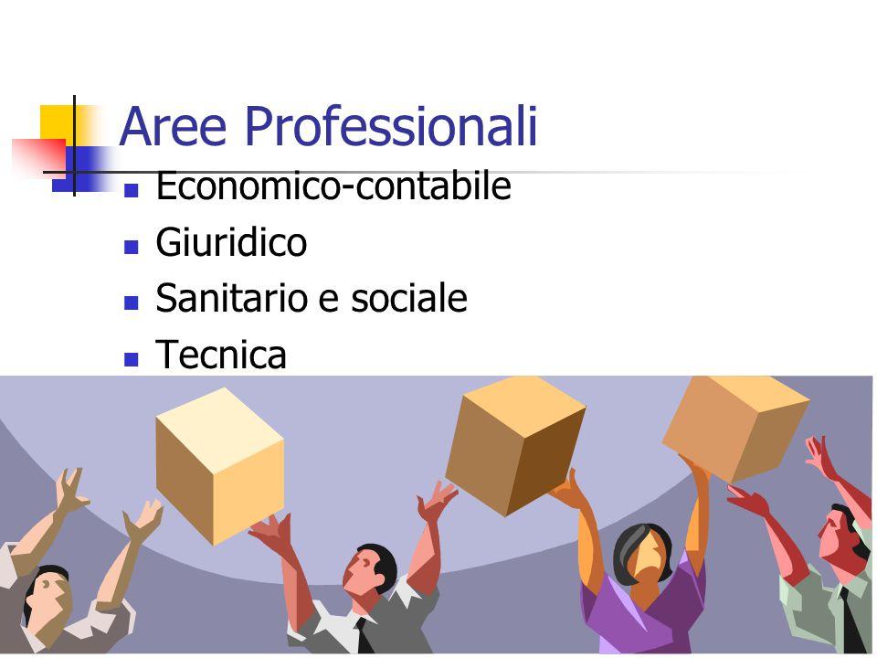 Aree Professionali Economico-contabile Giuridico Sanitario e sociale Tecnica