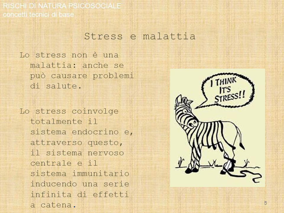 Stress e malattia Asse ipotalamo-ipofisi-surrene: sintesi e liberazione di ormoni steroidei provocano un aumento dell'attività metabolica con la possibilità di affrontare un momento di difficoltà.