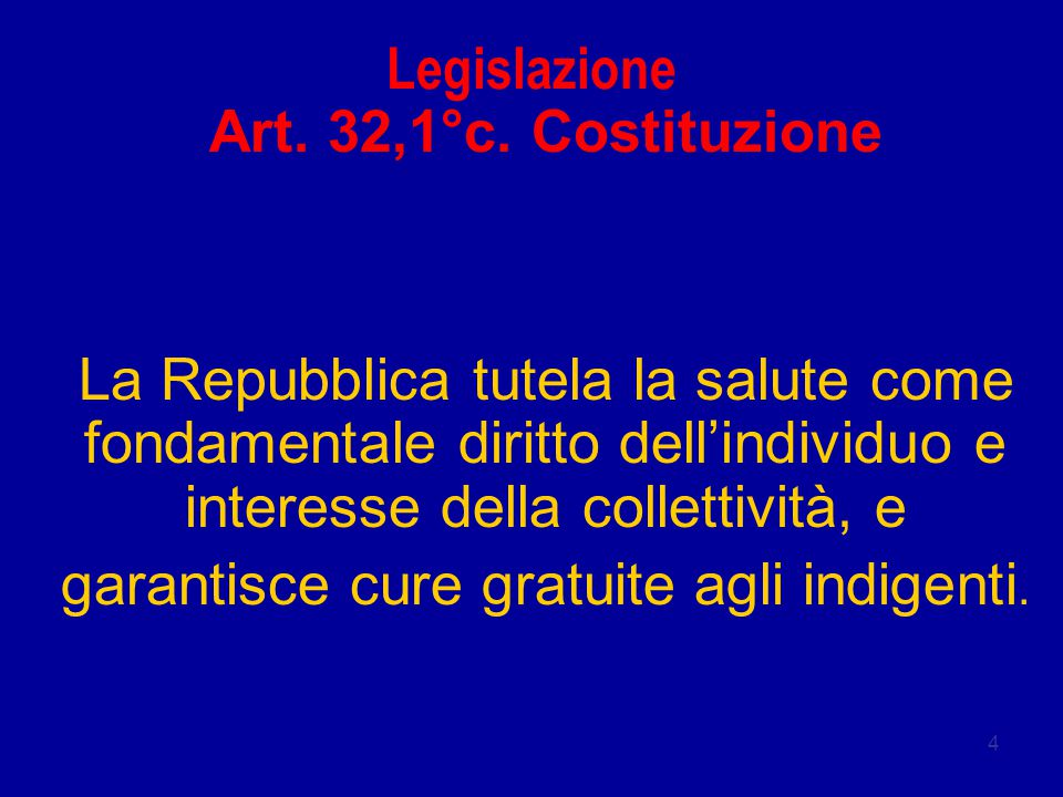 4 Legislazione Art.32,1°c.