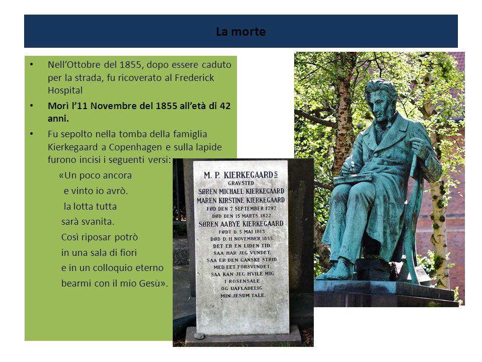 La morte Nell'Ottobre del 1855, dopo essere caduto per la strada, fu ricoverato al Frederick Hospital Morì l'11 Novembre del 1855 all'età di 42 anni.