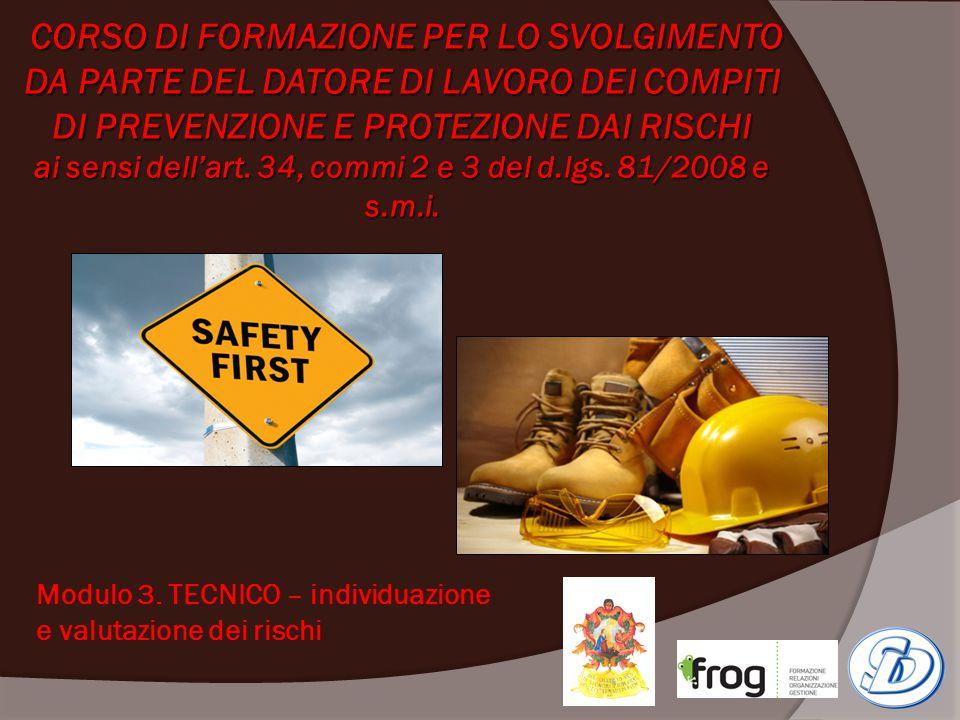 MODULO 3.TECNICO– individuazione e valutazione dei rischi A.
