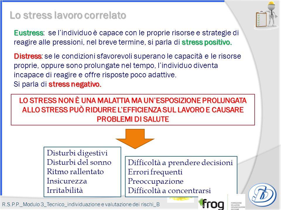 Eustress stress positivo. Eustress: se l'individuo è capace con le proprie risorse e strategie di reagire alle pressioni, nel breve termine, si parla