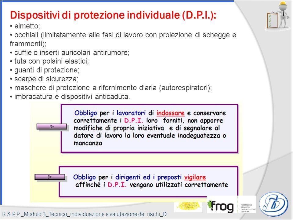 Dispositivi di protezione individuale (D.P.I.): elmetto; occhiali (limitatamente alle fasi di lavoro con proiezione di schegge e frammenti); cuffie o