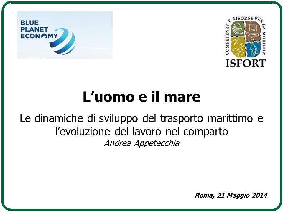 L'uomo e il mare Le dinamiche di sviluppo del trasporto marittimo e l'evoluzione del lavoro nel comparto Andrea Appetecchia Roma, 21 Maggio 2014
