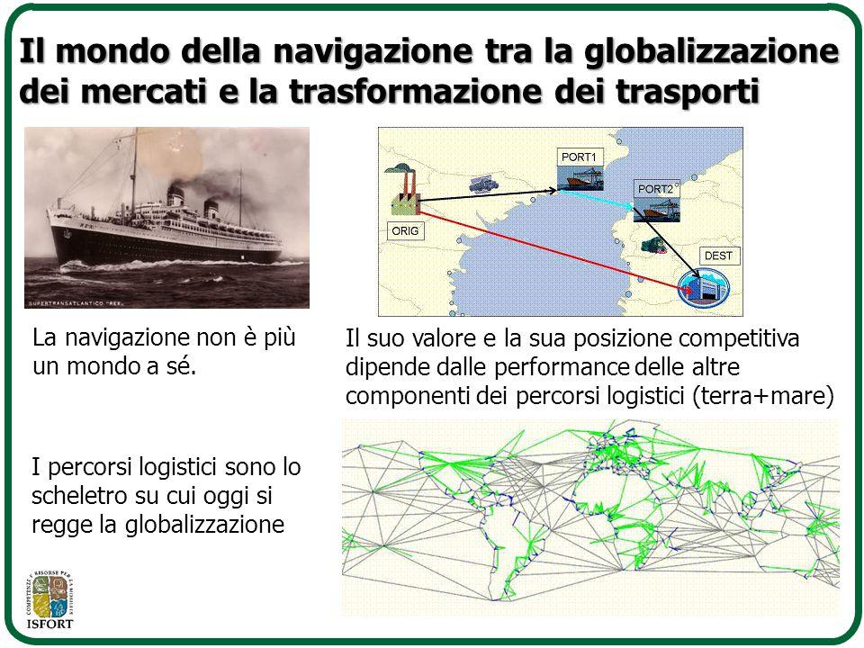 La navigazione non è più un mondo a sé. I percorsi logistici sono lo scheletro su cui oggi si regge la globalizzazione Il mondo della navigazione tra