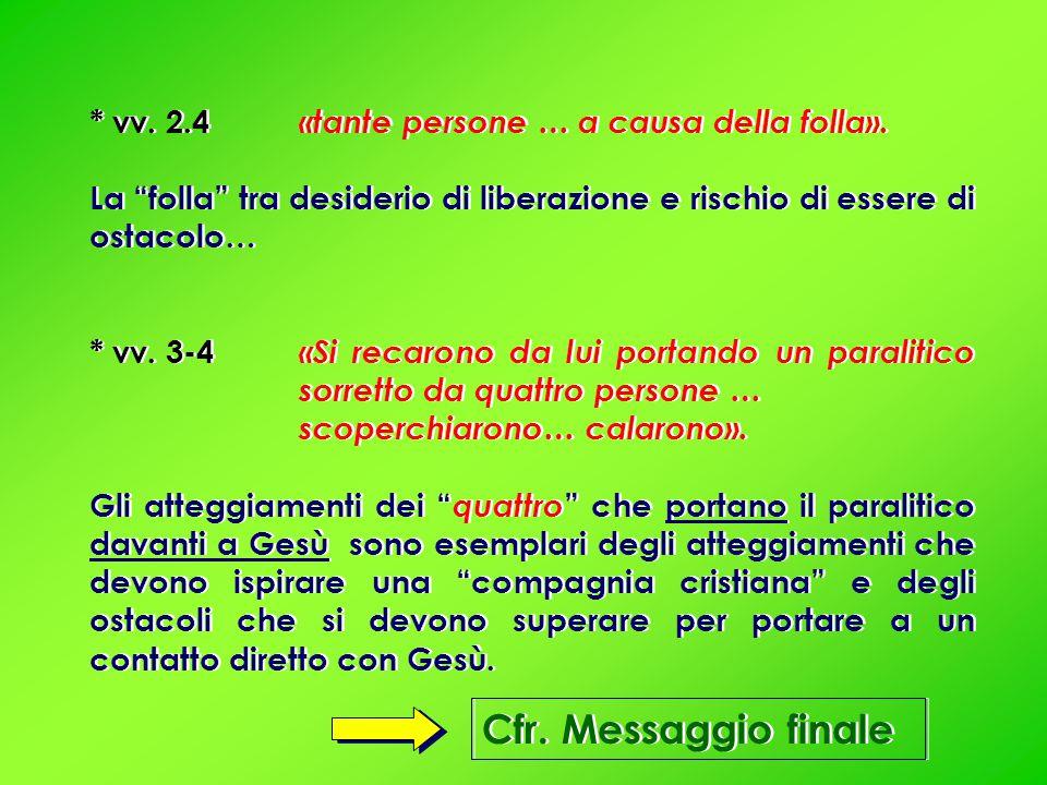 * v.5a «Gesù, vedendo la loro fede… disse…».