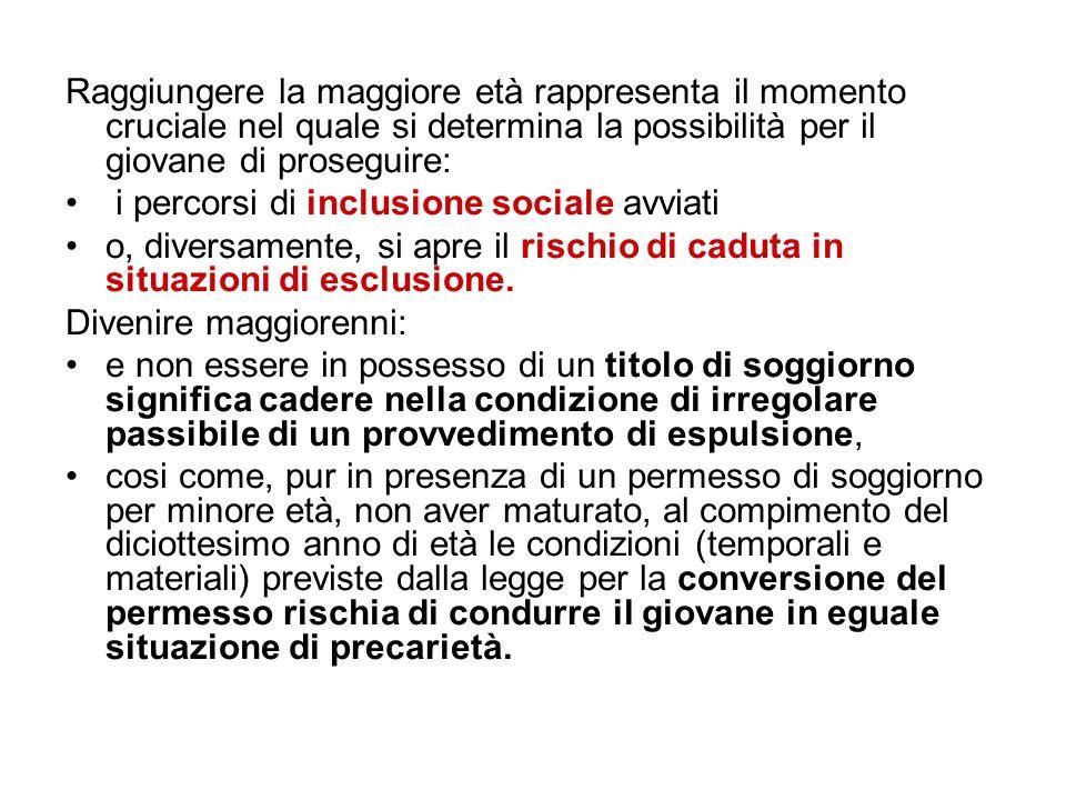 Per molti minori che arrivano in Italia l'assimilazione dello status di minore - come definito dalla legislazione italiana e più in generale da quella europea - è un processo tutt'altro che automatico perché implica il confronto e l'integrazione di una concezione dell'infanzia tipicamente occidentale con altre che possono essere molto diverse.