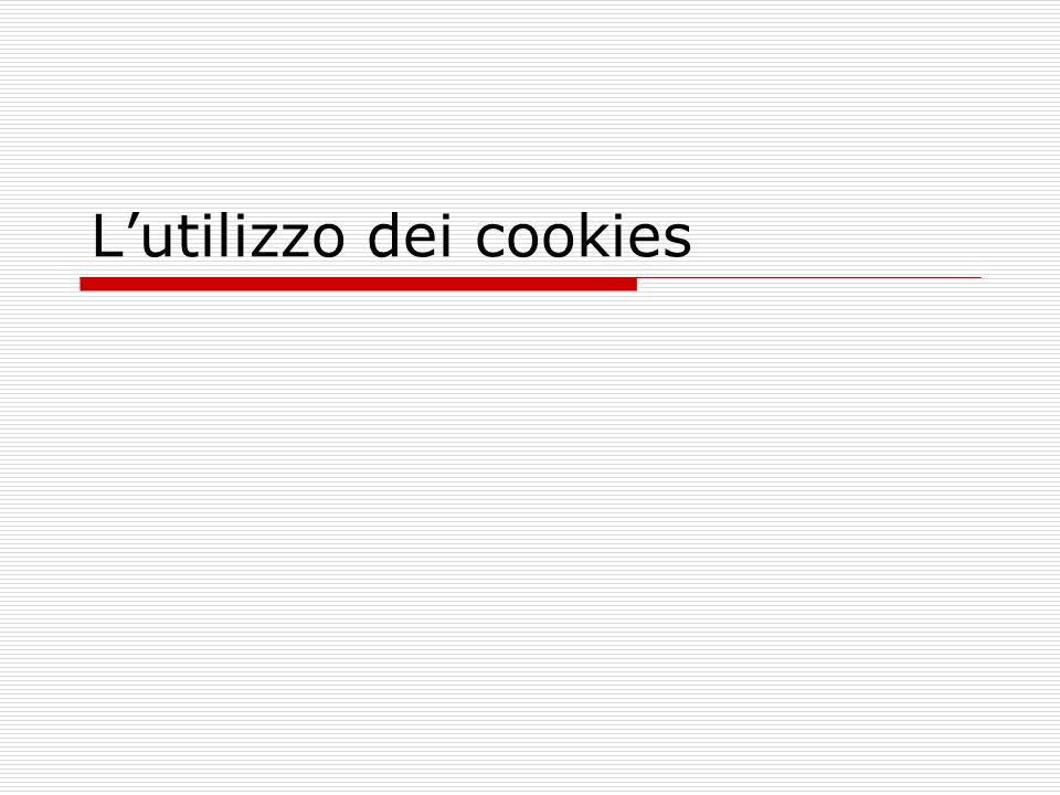 L'utilizzo dei cookies