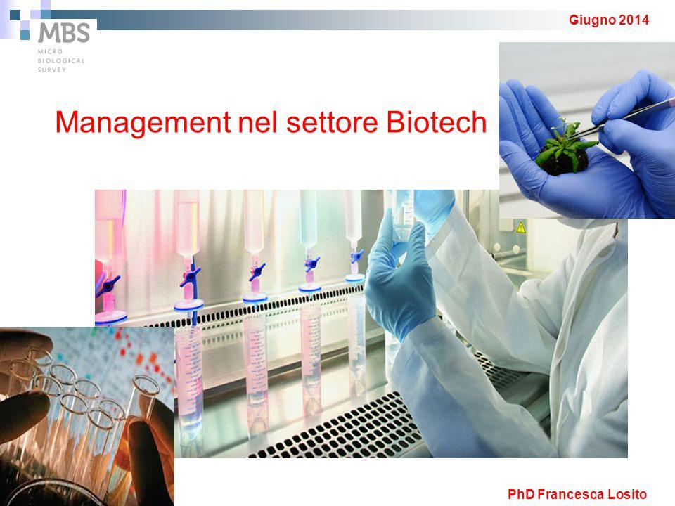 Giugno 2014 Management nel settore Biotech PhD Francesca Losito