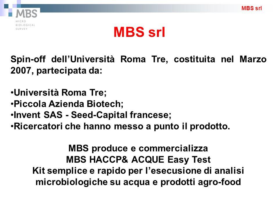 Spin-off dell'Università Roma Tre, costituita nel Marzo 2007, partecipata da: Università Roma Tre; Piccola Azienda Biotech; Invent SAS - Seed-Capital