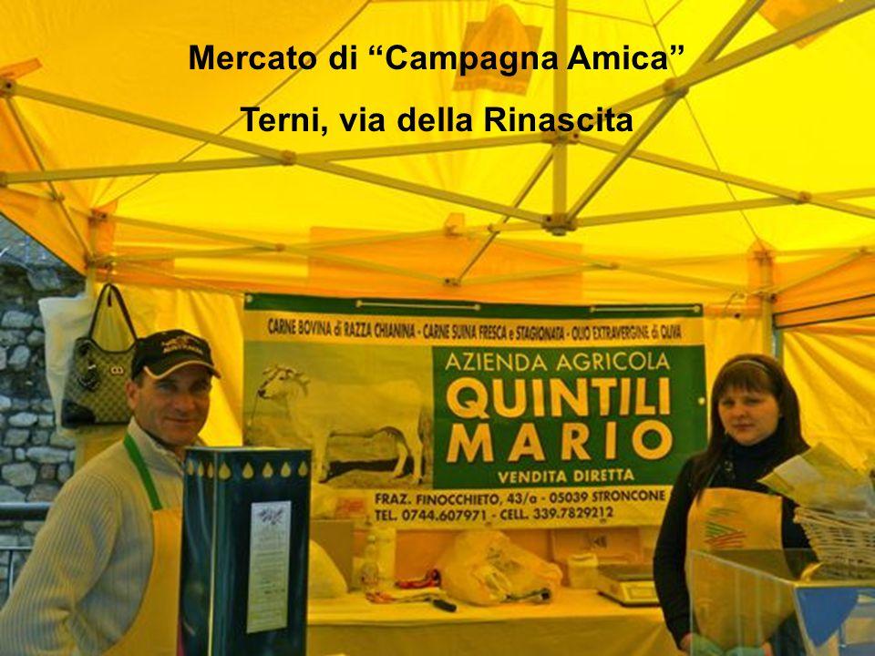 """Mercato di """"Campagna Amica"""" Terni, via della Rinascita"""