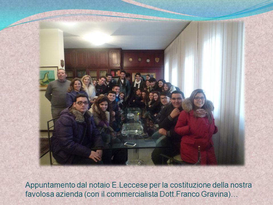Appuntamento dal notaio E.Leccese per la costituzione della nostra favolosa azienda (con il commercialista Dott.Franco Gravina)…