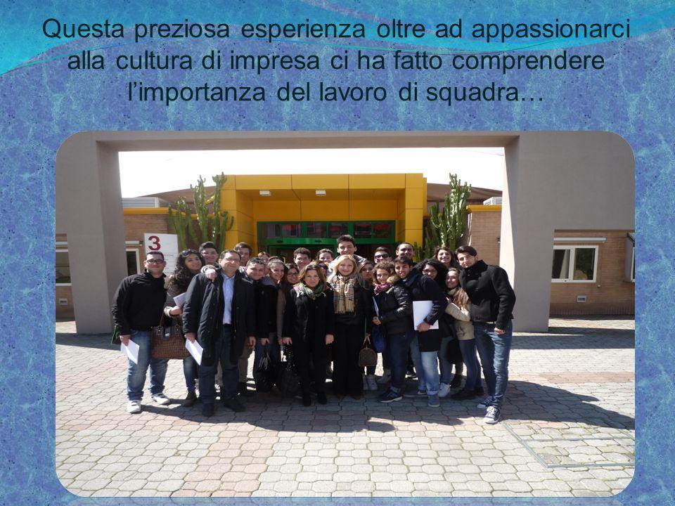… Una citazione cara alla nostra Prof: Il lavoro di squadra è l'abilità di lavorare insieme verso una visione comune.