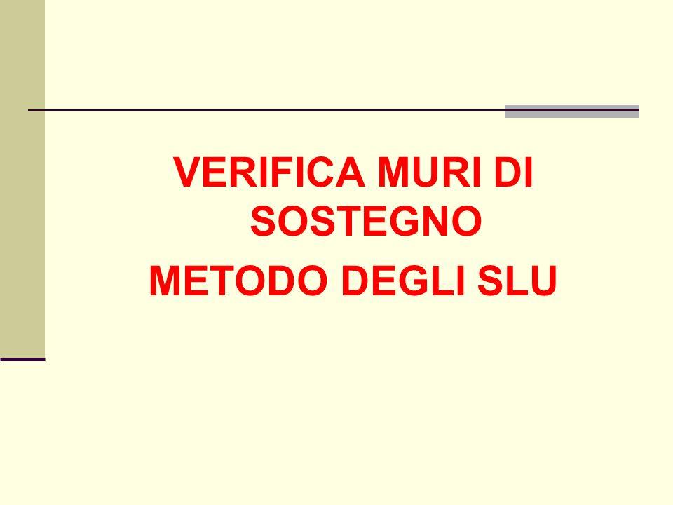 VERIFICA MURI DI SOSTEGNO METODO DEGLI SLU