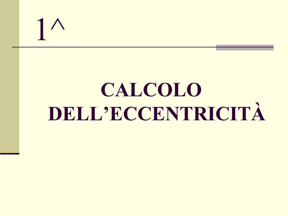 1^ CALCOLO DELL'ECCENTRICITÀ