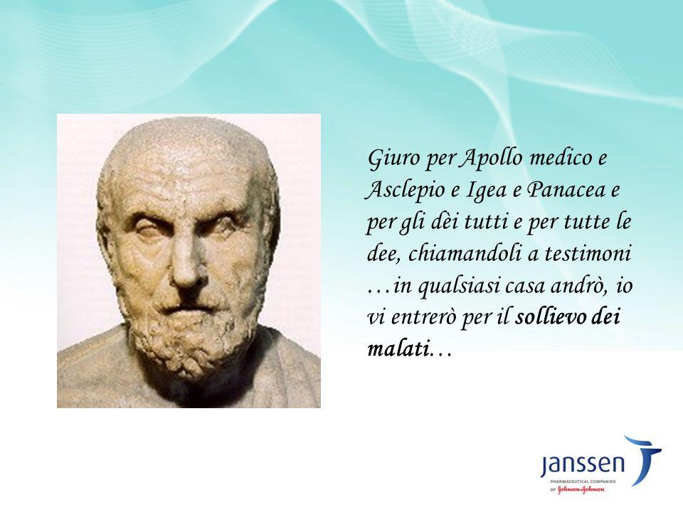 Giuro per Apollo medico e Asclepio e Igea e Panacea e per gli dèi tutti e per tutte le dee, chiamandoli a testimoni …in qualsiasi casa andrò, io vi en