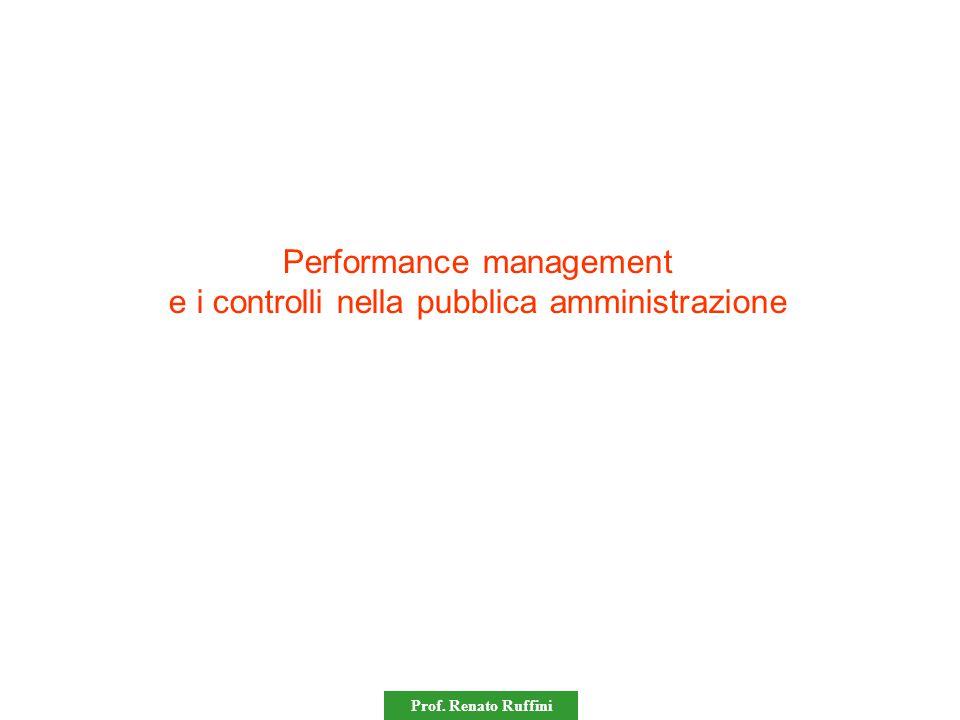 Prof. Renato Ruffini Performance management e i controlli nella pubblica amministrazione