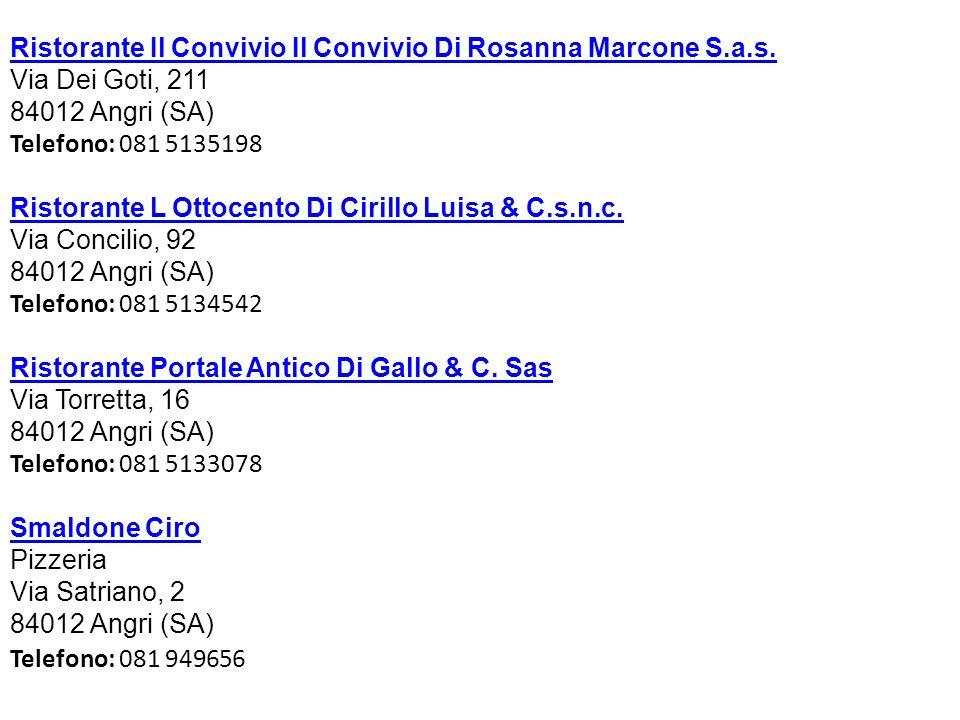 Ristorante Il Convivio Il Convivio Di Rosanna Marcone S.a.s.