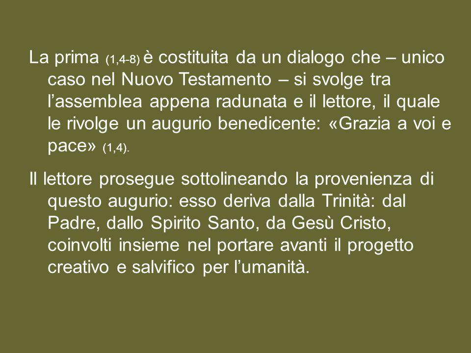 La prima parte dell'Apocalisse (1,4-3,22) presenta, nell'atteggiamento dell'assemblea che prega, tre fasi successive.