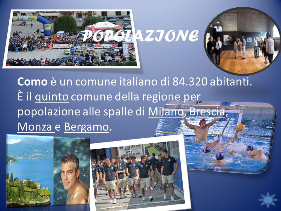 POPOLAZIONE Como è un comune italiano di 84.320 abitanti.