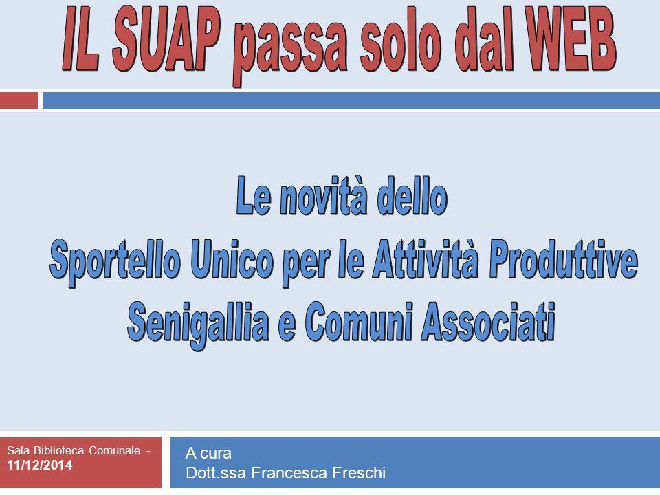 Sala Biblioteca Comunale - 11/12/2014 A cura Dott.ssa Francesca Freschi