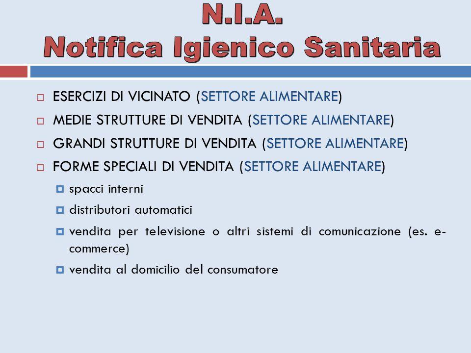  ESERCIZI DI VICINATO (SETTORE ALIMENTARE)  MEDIE STRUTTURE DI VENDITA (SETTORE ALIMENTARE)  GRANDI STRUTTURE DI VENDITA (SETTORE ALIMENTARE)  FOR