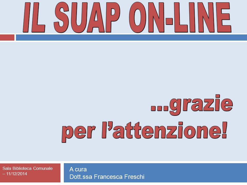 Sala Biblioteca Comunale – 11/12/2014 A cura Dott.ssa Francesca Freschi