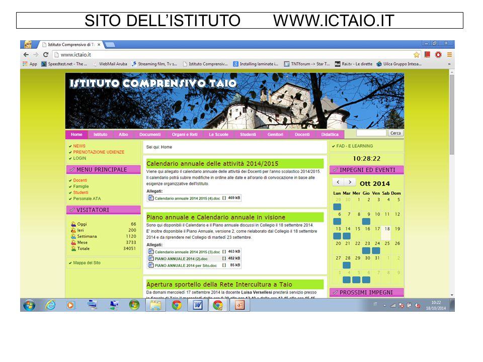 SITO DELL'ISTITUTO WWW.ICTAIO.IT