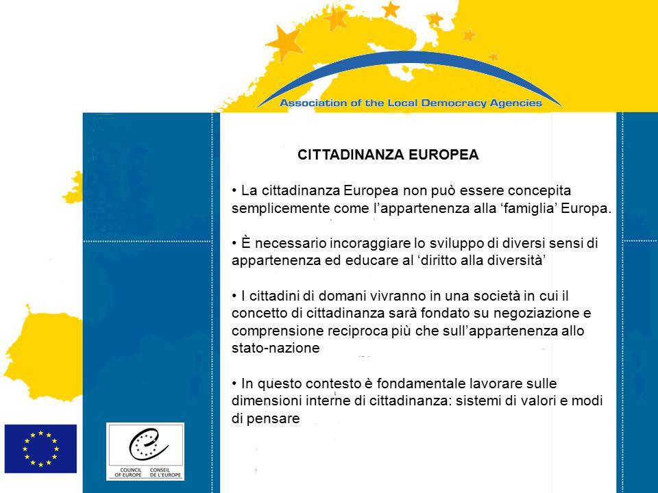 Strasbourg 05/06/07 Strasbourg 31/07/07 CITTADINANZA EUROPEA La cittadinanza Europea non può essere concepita semplicemente come l'appartenenza alla 'famiglia' Europa.