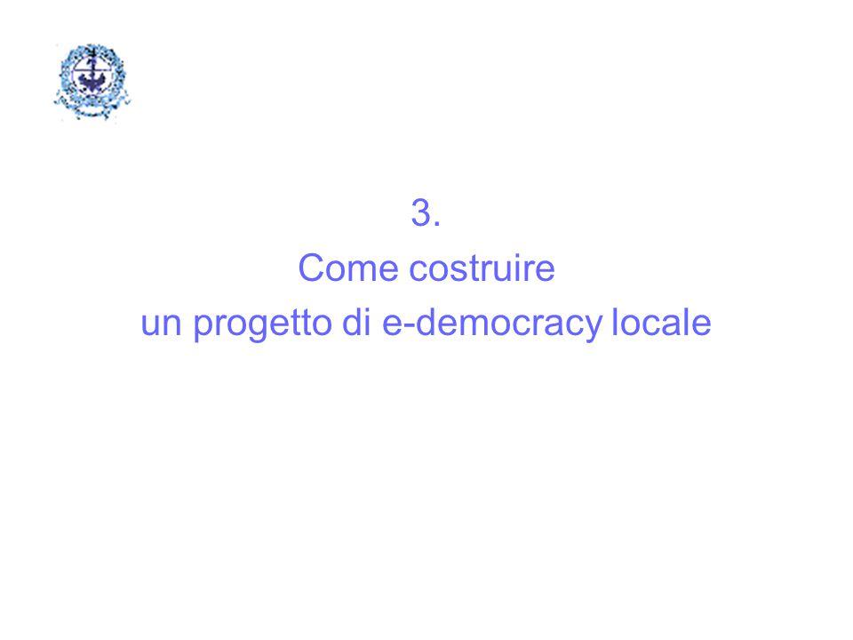 3. Come costruire un progetto di e-democracy locale