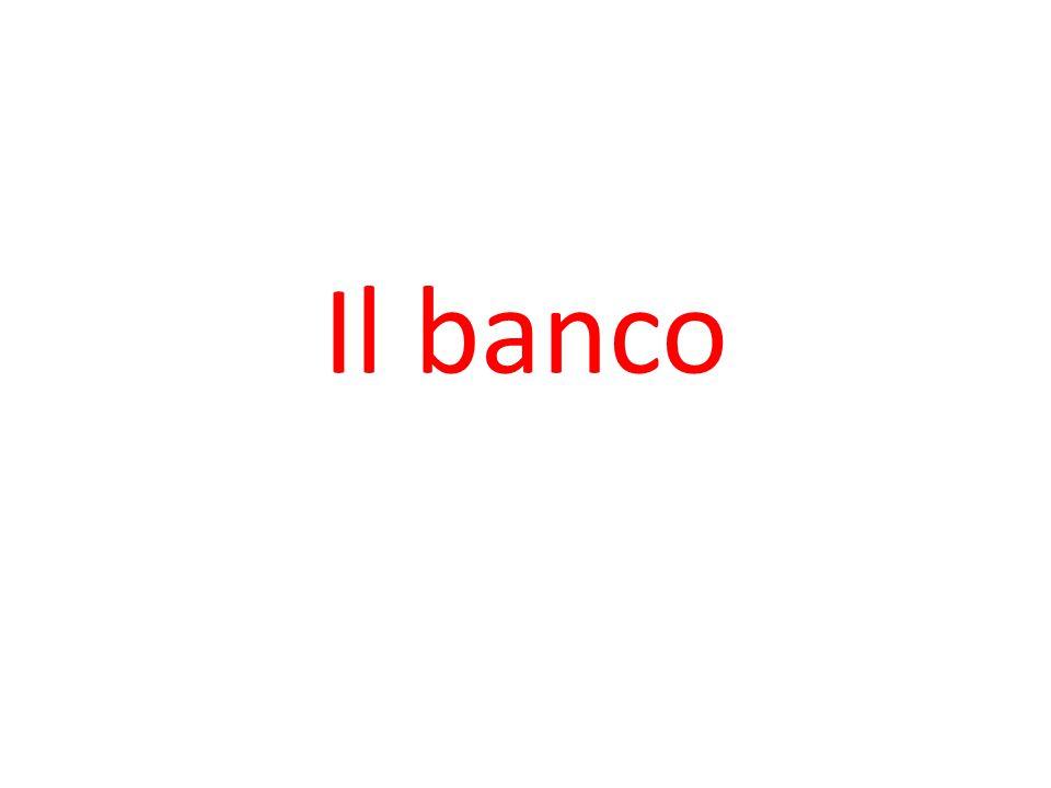 Il banco