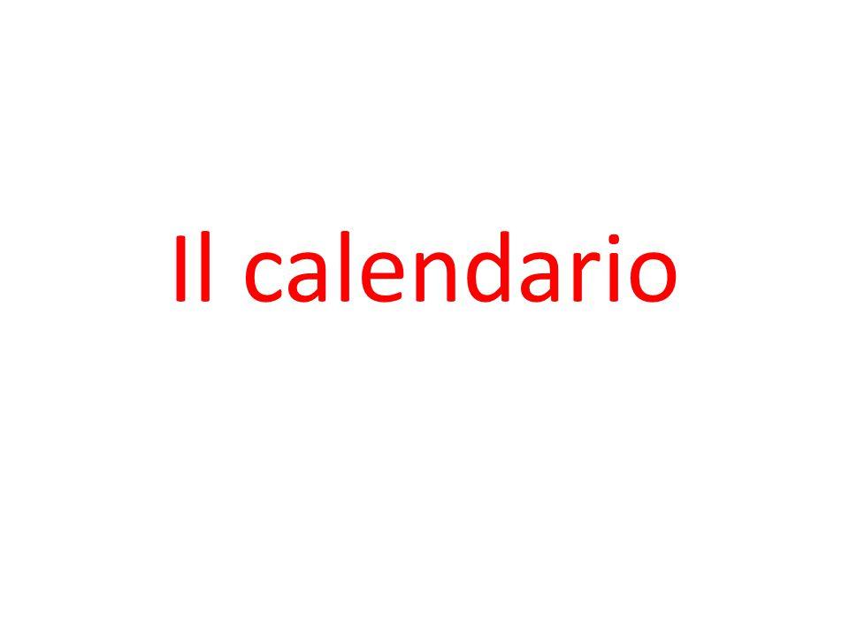 Il calendario