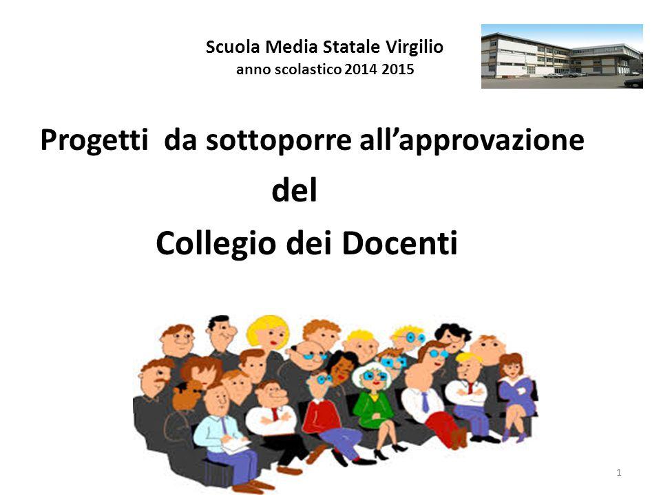 Scuola Media Statale Virgilio anno scolastico 2014 2015 Progetti da sottoporre all'approvazione del Collegio dei Docenti 1