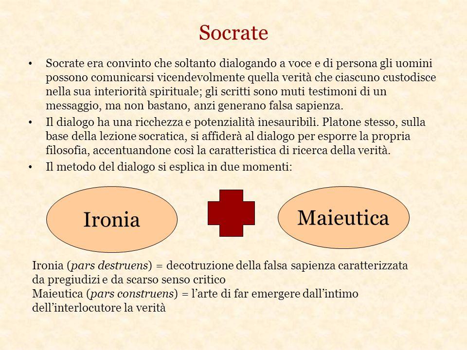 Socrate Socrate era convinto che soltanto dialogando a voce e di persona gli uomini possono comunicarsi vicendevolmente quella verità che ciascuno cus
