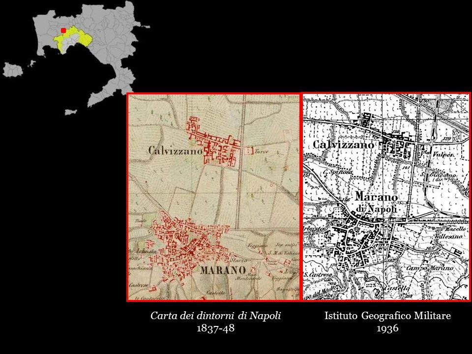 Carta dei dintorni di Napoli 1837-48 Istituto Geografico Militare 1936