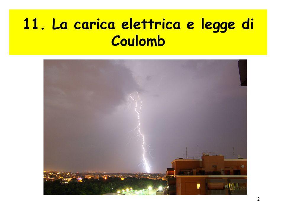 2 11. La carica elettrica e legge di Coulomb