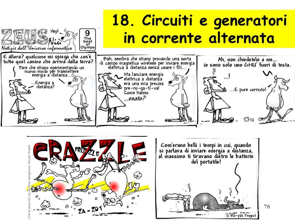 76 18. Circuiti e generatori in corrente alternata